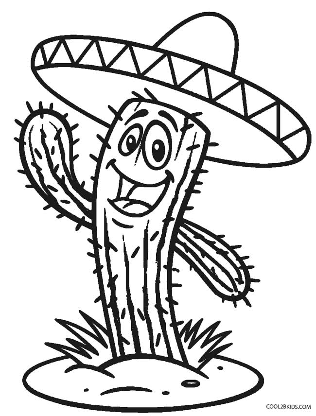 cactus da colorare