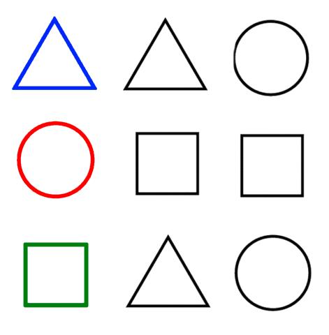 forme geometriche da colorare