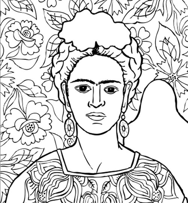 frida kahlo da colorare