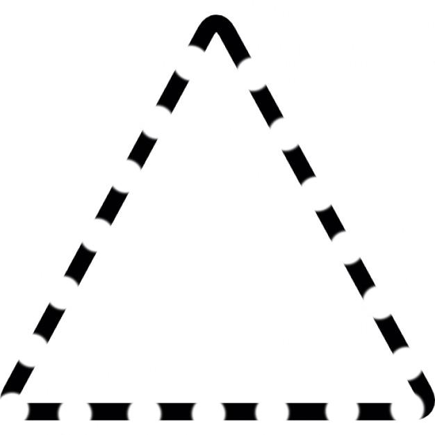 triangolo tratteggiato