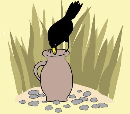 La cornacchia e la brocca