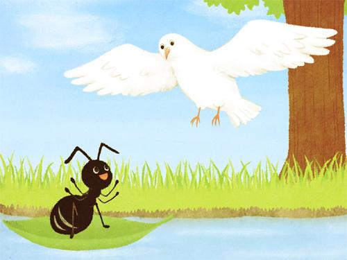 la formica e la colomba