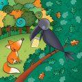 La volpe e il corvo favole di esopo per bambini