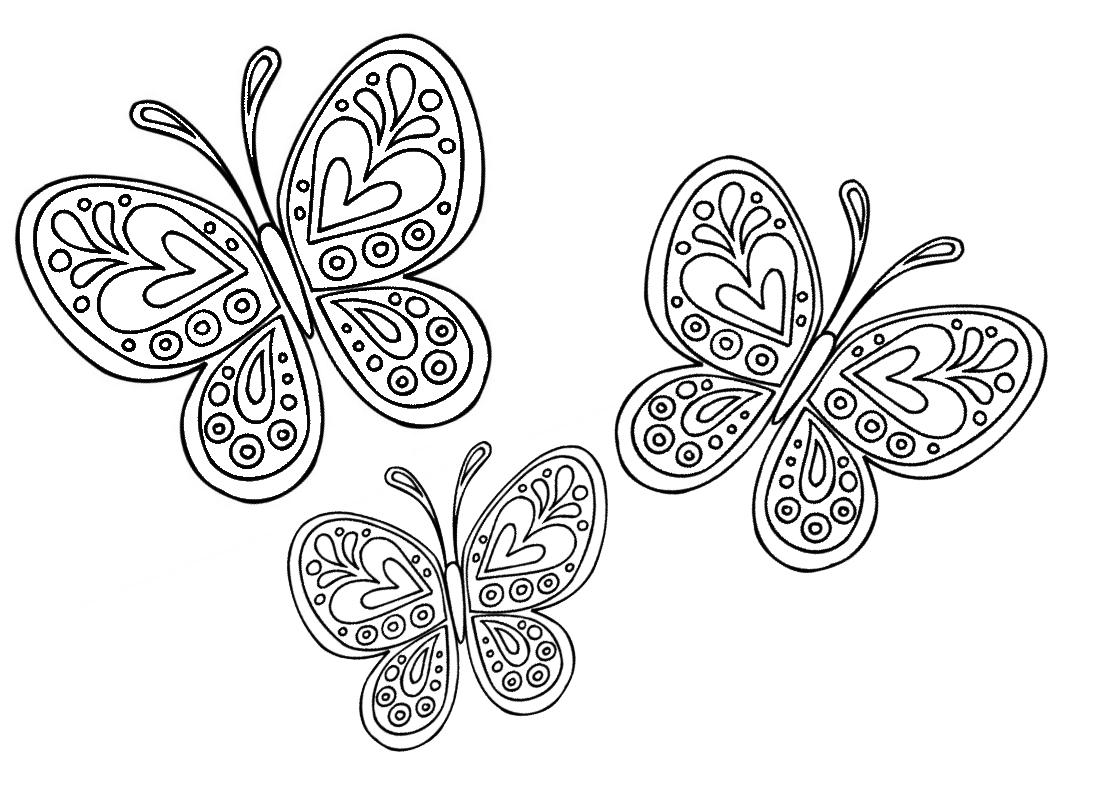 disegni per bambini farfalle