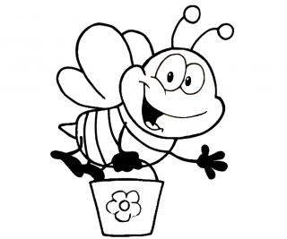 disegni da colorare api e farfalle