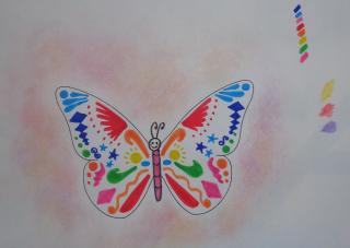 disegno farfallina