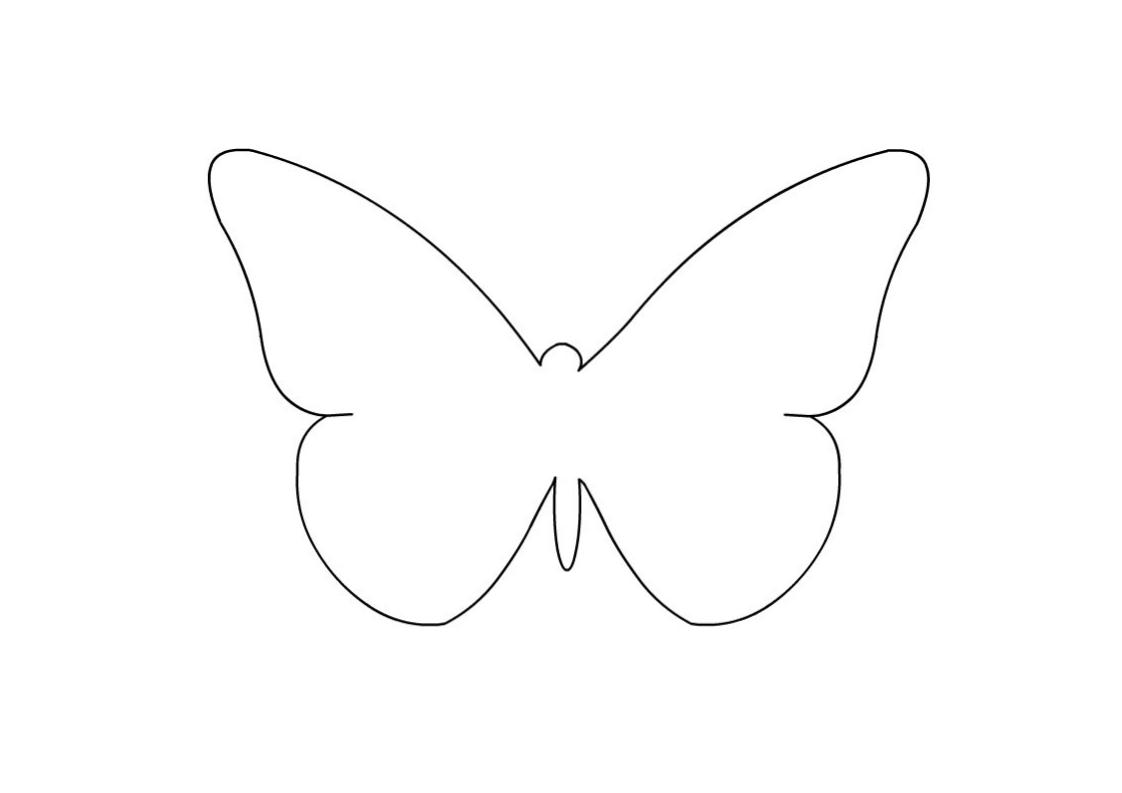 farfalla da colorare