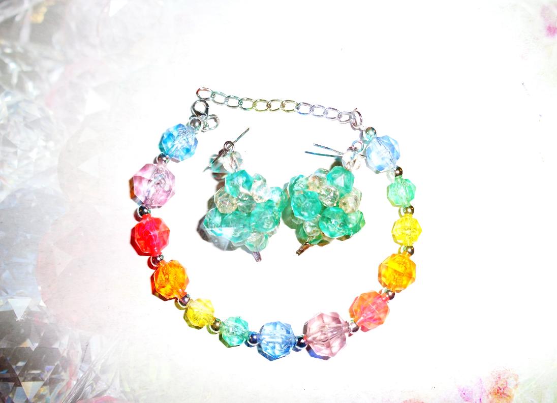 crystal rainbow bijoux bigiotteria fai da te