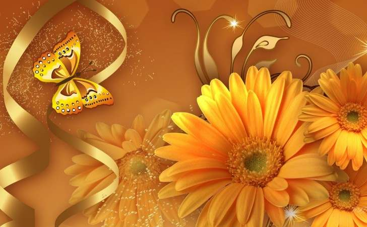farfalle fiorite