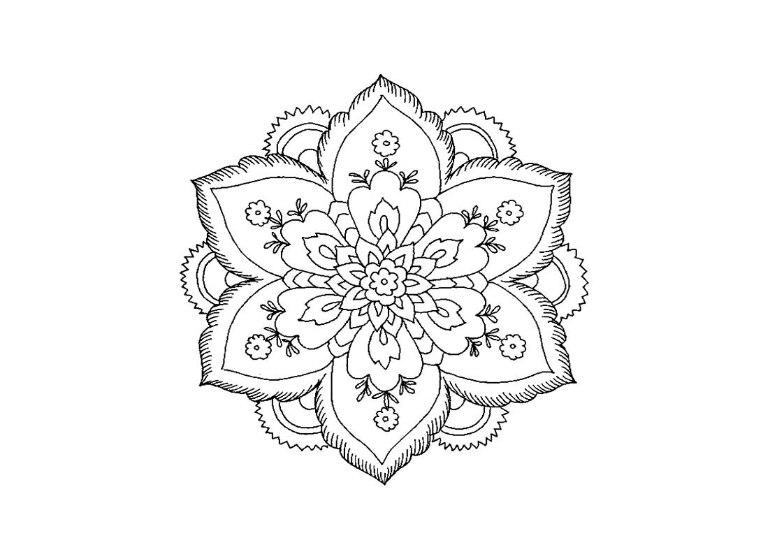 Preferenza Fiori da colorare: disegni da stampare a tema fiori, per grandi e  WE24